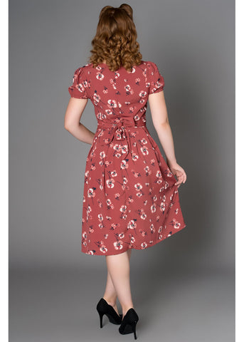 Sheen Katelyn Floral 40's Kleid Altrosa