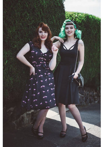 Collectif Julia 50er Swingkleid Schwarz
