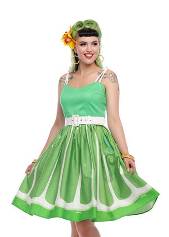 Collectif Jade Lime 50's Swingkleid Grün