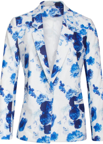 Smashed Lemon x Rijksmuseum Royal Blue Jacket Weiß Blau