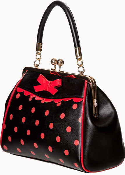 Banned Crazy Little Thing Handtasche Schwarz Rot