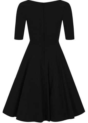 Collectif Trixie Doll Swing Kleid Schwarz