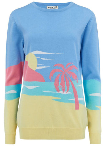 Sugarhill Boutique Katy's Life's A Beach Pullover Multi