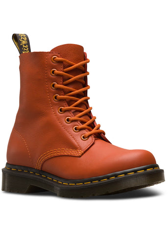 Dr. Martens 1460 Pascal Virginia Weiches Leder Schnürstiefel Burned Orange