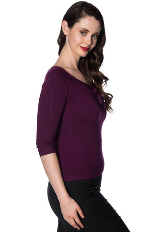 Banned Pretty Illusion Top Aubergine