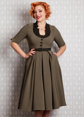 Miss Candyfloss Bambalina Dee 50's Swingkleid Houndstooth