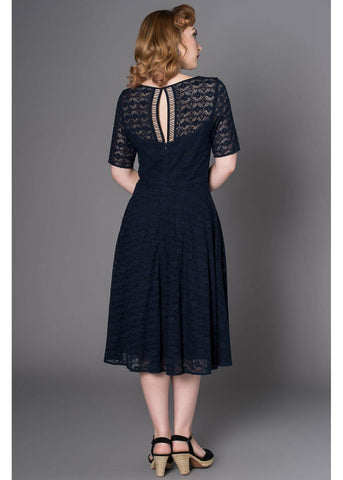 Sheen Grace Lace 50's Swingkleid Navy