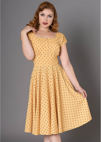 Sheen Zafira 50's Swingkleid Gelb