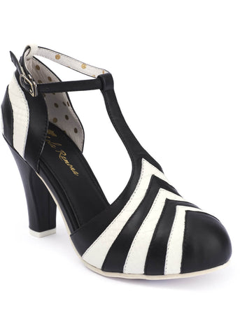 Lola Ramona June Good Times 60's Pumps Schwarz Crème