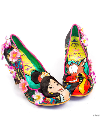 Irregular Choice Mulan Let Dreams Blossom Pumps Schwarz Weiß