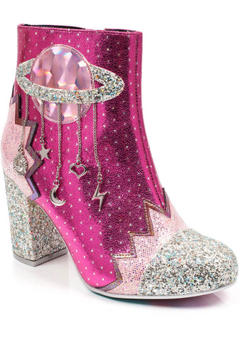 Irregular Choice Intergalactic Stiefel Rosa