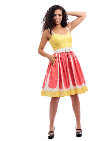 Collectif Jade Grapefruit 50's Swing Kleid