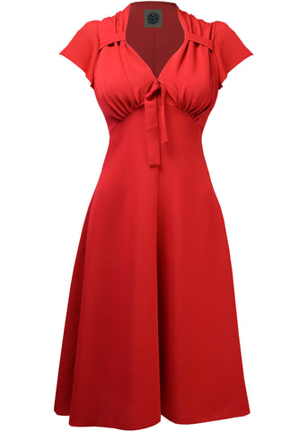 Pretty Retro 40's Tea Classic Kleid Rot