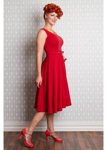 Miss Candyfloss Febe 50's Swingkleid Rot Gelb Orange