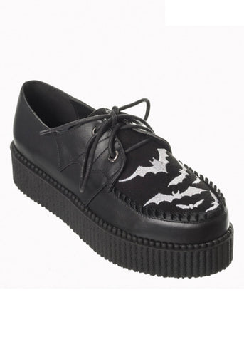 Banned Rebel Bats Creepers Schwarz