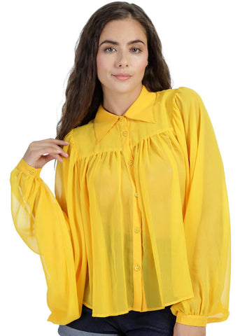 Bright & Beautiful Sophie 70's Bluse Gelb