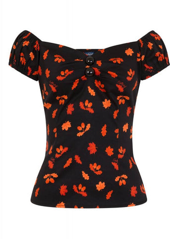 Collectif Dolores Acorn 50's Top Schwarz