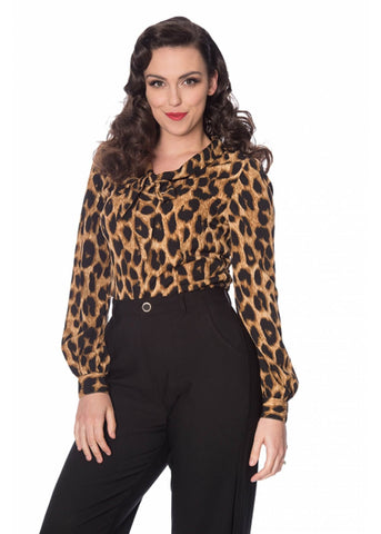 Banned Leopard 50's Bluse Leopard