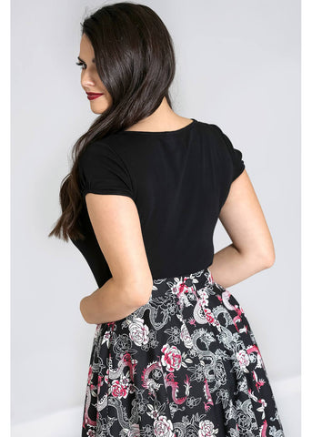 Hell Bunny Mia 50's Top Black