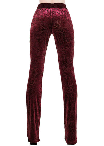 Killstar Bellatrix Bell Bottoms Hose Weinrot