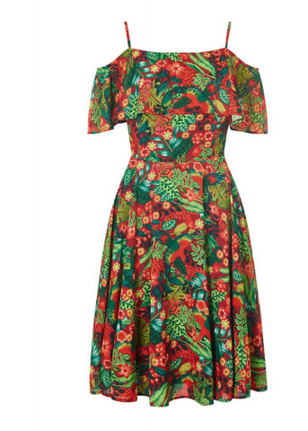 Bright & Beautiful Darcy Tropical Paradise Kleid Multi