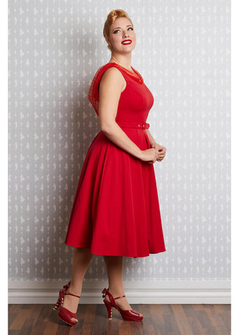 Miss Candyfloss Snow Rose 50's Swingkleid Rot