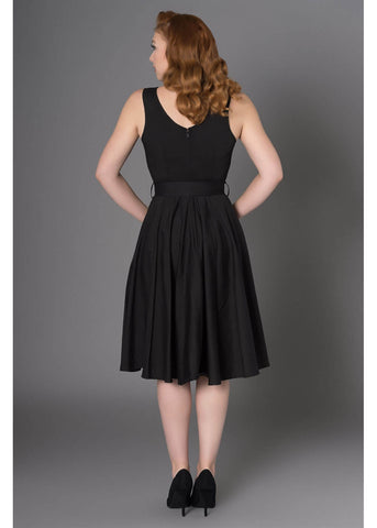 Sheen Georgia 50's Swingkleid Schwarz