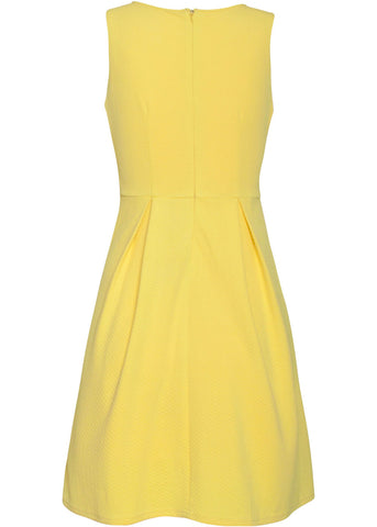Smashed Lemon Glaze 60's Swingkleid Gelb