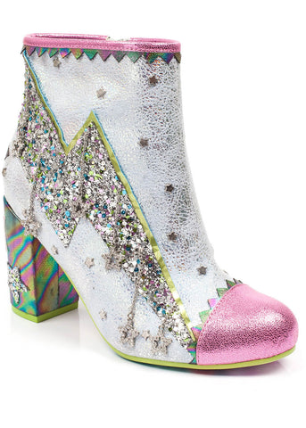 Irregular Choice Major Tom Stiefeletten Rosa Weiß