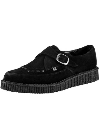 T.U.K Pointed Buckle Creeper Schwarz