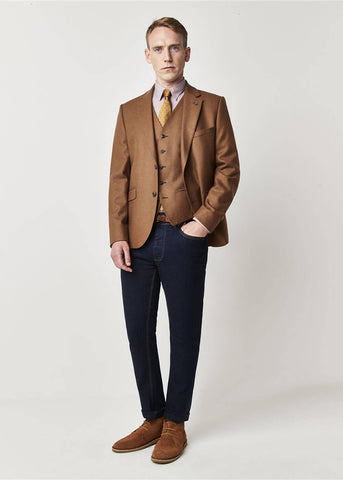 Gibson London Hewett Camel Jackett Braun