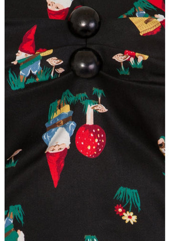 Collectif Dolores Gnome 50's Top Schwarz