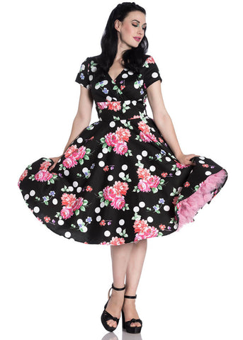 Hell Bunny Collarette 50er Swingkleid Schwarz