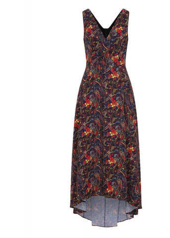 Bright & Beautiful Isabella Psychedelic Floral 70's Maxikleid Multi