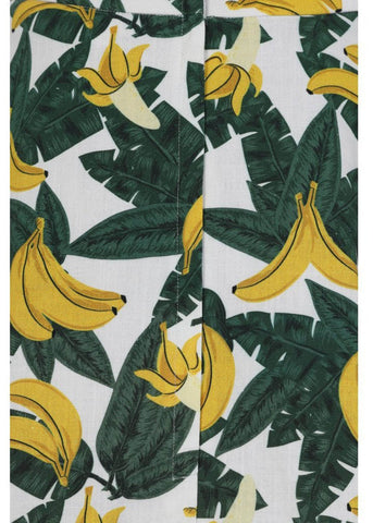 Collectif Matilde Tropical Banana 50's Swingrock Grün Gelb
