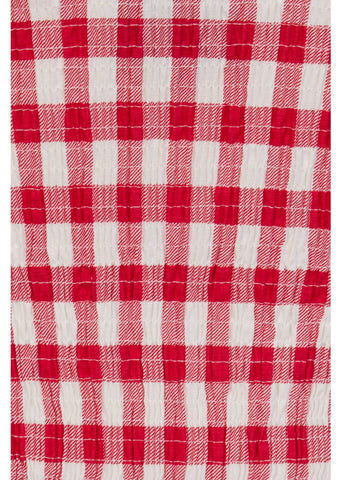 Collectif Lottie Vintage Gingham 50's Top Rot