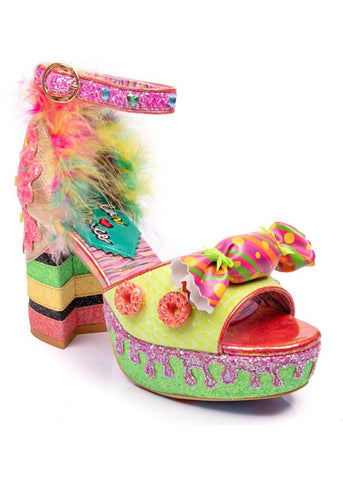 Irregular Choice Glazed & Confused Donut Plateau Pumps Rosa