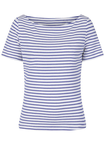 Banned Italy Sail Stripe 60's Top Blau