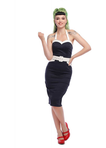 Collectif Georgie Nautical 50's Etuikleid Navy