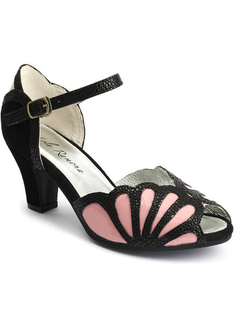 Lola Ramona Ava Affection 50's Pumps Schwarz Rosa