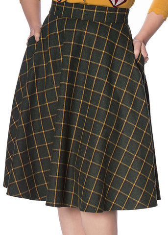 Banned Ladies Day Tartan 40's Swingrock Grün