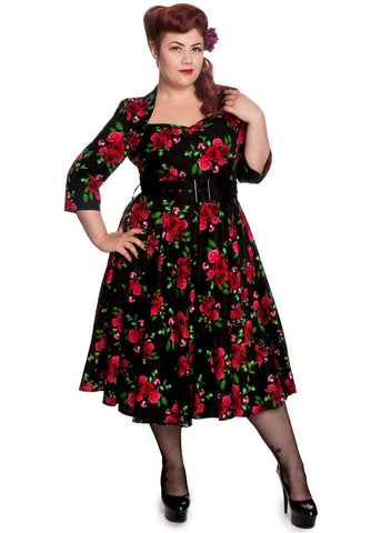 Hell Bunny Eternity 50er Swingkleid Schwarz