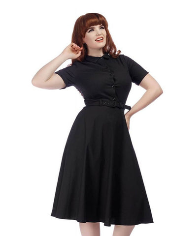 Collectif Keira 50's Swingkleid Schwarz