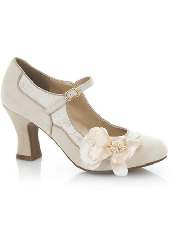 Ruby Shoo Madelaine Pumps Creme Gold