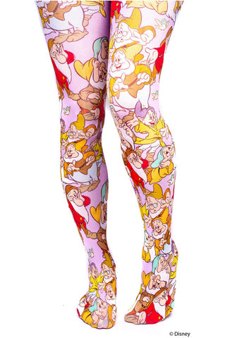 Irregular Choice Snow White The Seven Dwarfs Leggings Lila Blau