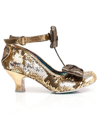 Irregular Choice Total Freedom Pumps Gold