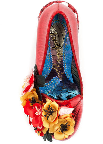 Irregular Choice Ember Starwand Pilz Pumps Rot