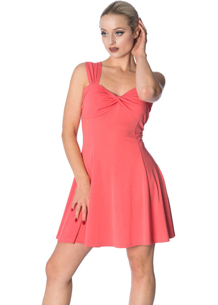 Banned It's The Twist Strappy 60's Kleid Hibiskus