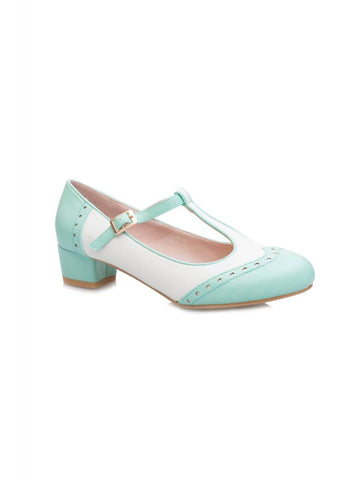 Lulu Hun Georgia 50's BlockAbsatz Pumps Mint Weiß