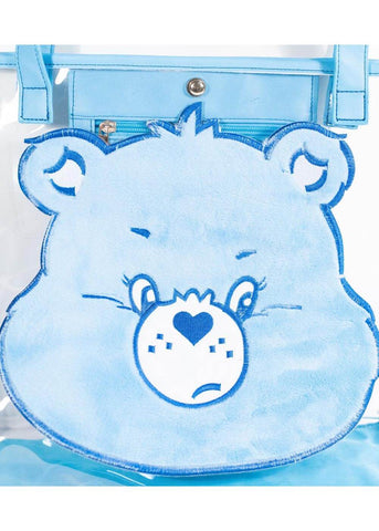 Unique Vintage x Care Bears Plush Grumpy Bear Vinyl Tasche Blau